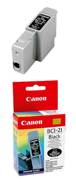 BCI-21Black INK Cartridge Canon BJC-5500/ 2000/2100/ 4100/4550/4650 (Black) (Canon)