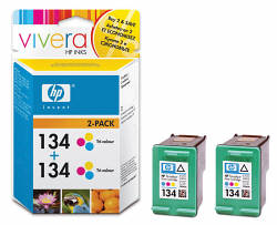 C9505HE Cartridge color HP №134 (Yellow. Cyan. Magenta) (2x14 ml) (HP)